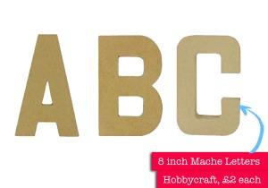 Hobbycraft letters