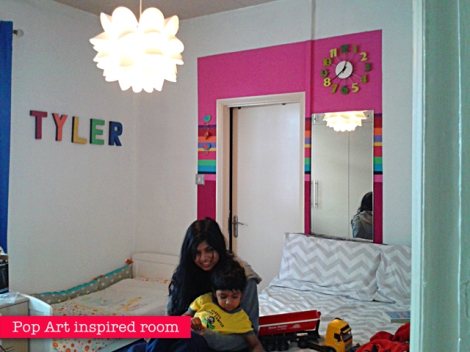 Pop Art Letters - Toddler Room Makeover