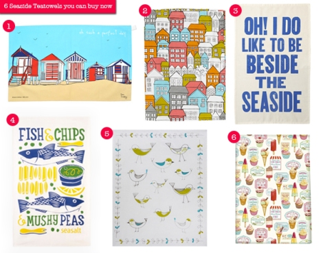 seaside teatowels