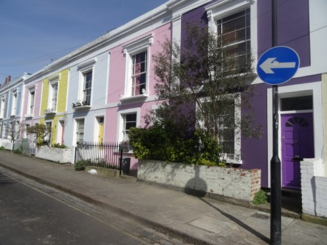 Pastel Houses - Falkland Place