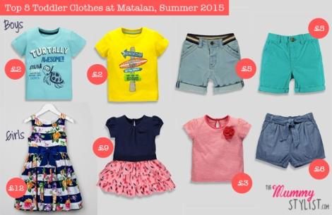 Top 8 Toddler Clothes at Matalan, Summer 2015