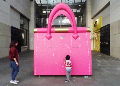 Intu Uxbridge Giant Pink Bag
