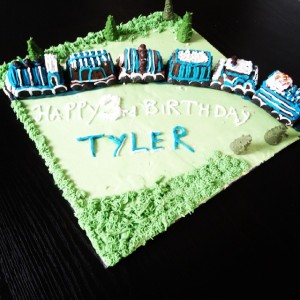 3rd birthday train cake