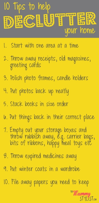 10 Tips to Help Declutter Your Home