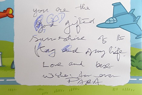 Grandpa with Parkinson's - Birthday Card Message to Grandson