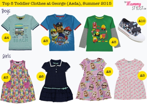Top 8 Toddler Clothes at George Asda Summer 2015