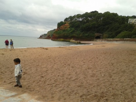 Dawlish Town Beach Red Cliffs