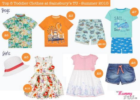 Sainsbury's-Top-8 Toddler Clothes Summer 2015