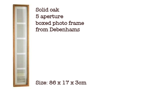 debenhams 5-photo multi aperture frame - bus blind