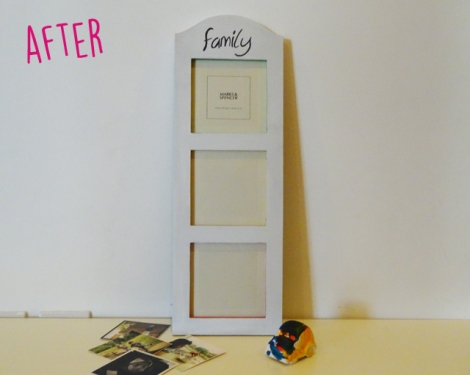 Photo Frame Painting Makeover - The Mummy Stylist