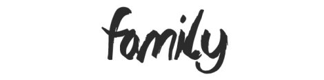 Family - The Lost Paintings - Watercolour Font