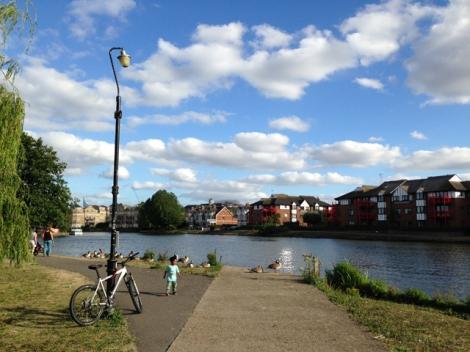 Christchurch Meadows, River Thames, Caversham, Reading, Berkshire
