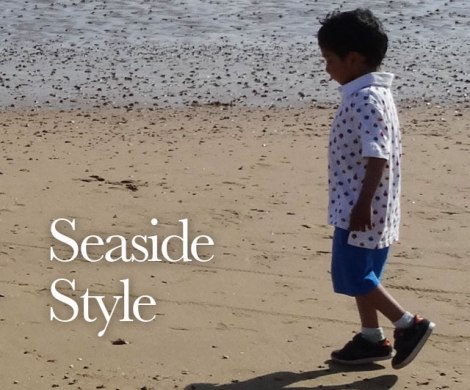 Seaside style toddler outfit