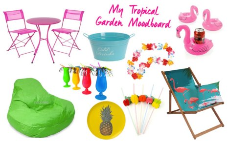 tropical garden moodboard