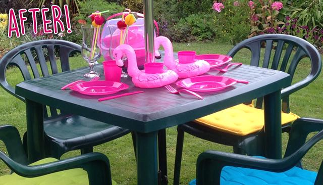 Pink Garden Furniture Diy old garden furniture back to life the mummy stylist httpthetwinklediarieshome etc workwithnaturefo