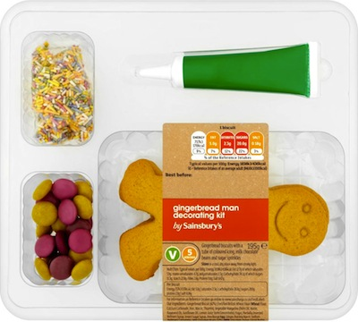 Sainsbury's Make your own Gingerbread Man Kit