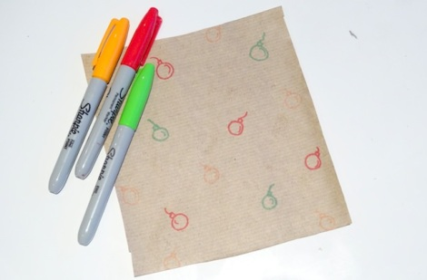 Homemade Christmas Brown Paper