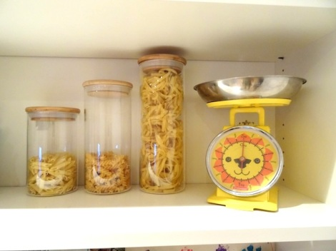 HomeSense Declutter Drawer Bins and Pasta Glass Jars