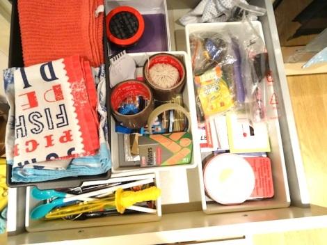 HomeSense Declutter Drawer Bins and Pasta Glass Jars