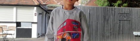 Monsoon Boys London Bus JumperMonsoon Boys London Bus Jumper