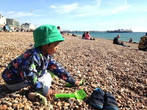 Autumn Toddler Seaside Trip - Brighton - September 2015