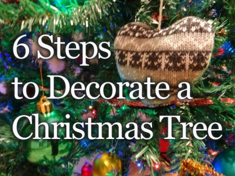 6 steps to decorate a christmas tree
