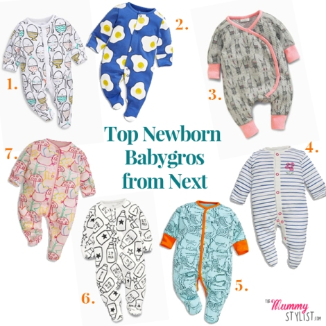 Top Newborn Babygros from Next SS16