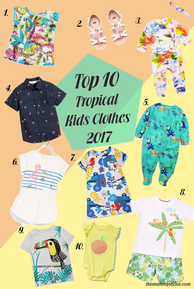Top-10-tropical-flamingo-kids-childrens-baby-clothes-outfits-2017-summer