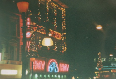 Christmas Lights at Piccadilly Circus, 1990s