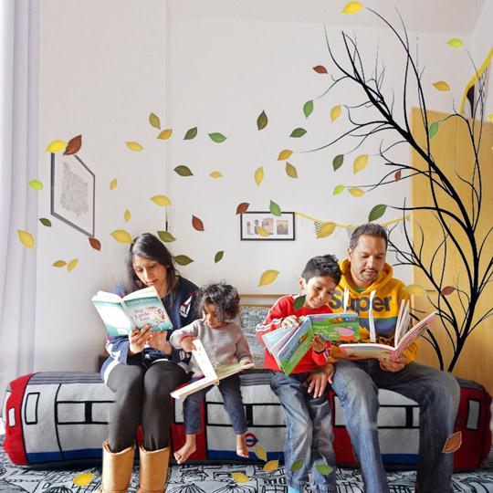 whimsical_family_travel_trees_tube_books_photo
