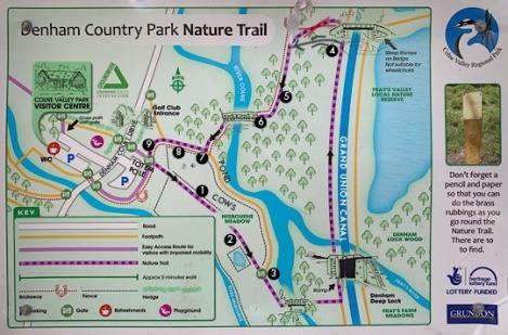 Denham Country Park Nature Trail Map