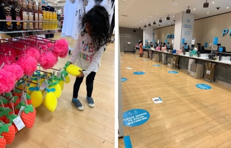 Shopping in Slough after Lockdown - Social Distancing Primark