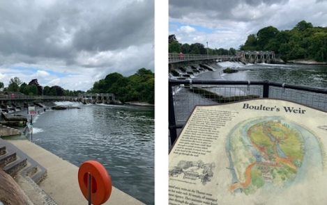 Boulter's Weir, Ray Mill Island, Taplow, Maidenhead, Berkshire