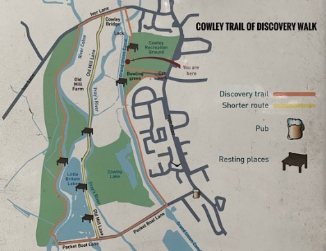 Cowley Trail of Discovery Walk - Map