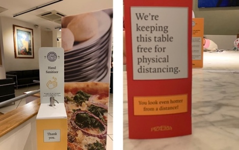 Pizza Express - Social Distancing - Pandemic