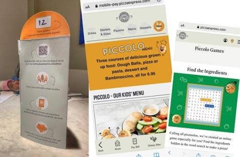 Pizza Express - Social Distancing - Pandemic - Digital Menu