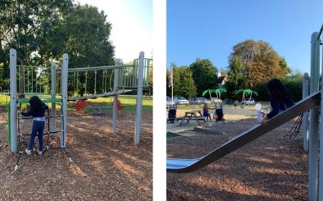 Riverside Gardens Sandpit Playground, Maidenhead, Berkshire