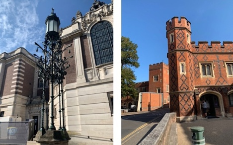 Slough to Eton Walking Trail | Berkshire Walk - The Burning Bush Victorian Lamppost