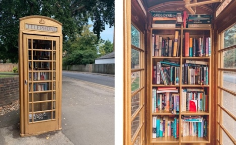 Slough to Eton Walk, Berkshire - Gold Phone Box Book Share