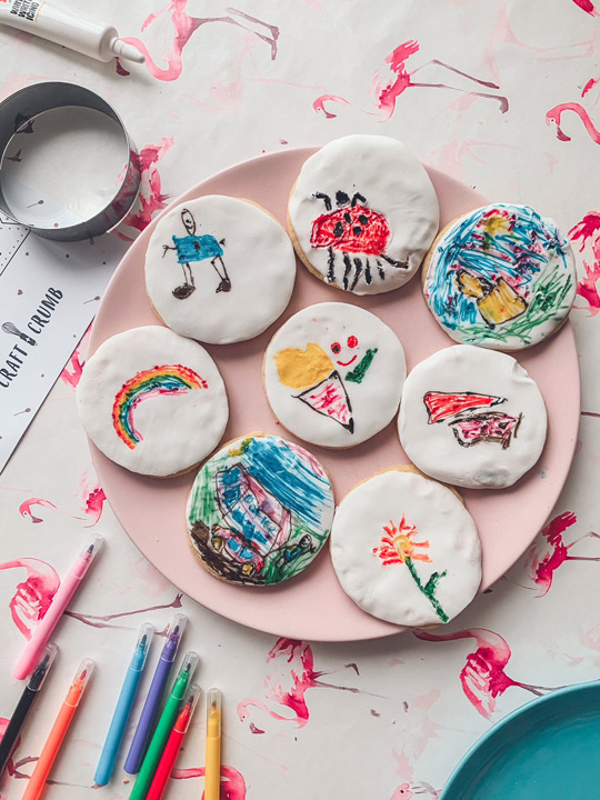 Photo of decorated biscuits
