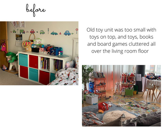 Ikea Kids Bedroom Makeover Kallax and Wardrobe