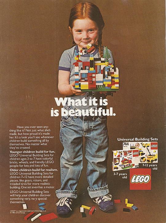 1981 LEGO Vintage Ad - International Womens Day 2021